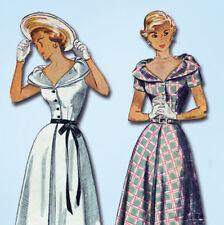 1940s Vintage Simplicity Sewing Pattern 2888 Uncut Misses Afternoon Dress Sz 32B