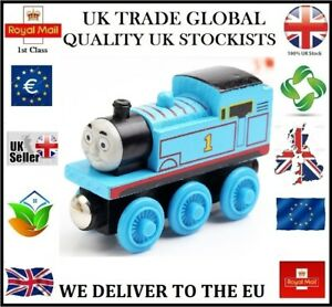 THOMAS THE TANK ENGINE & FRIENDS WOODEN TOY TRAIN MAGNETIC BRIO COMPATIBLE UKGT