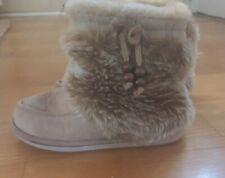 Girl Size 13-1 Tan Sox-Tab Slippers