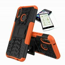 For Xiaomi Mi A2 /Mi 6X Hybrid Case Outdoor 2 Pieces Orange Case+H9 Glass