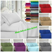 King Size Egyptian Comfort 1900 Count Series 4 Piece Bed Sheet Set Deep Fitted