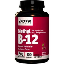 Methyl B-12 Cherry Flavor 500 mcg (100 Lozenges) - Jarrow Formulas