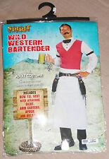 EUC Wild West Bartender Saloon Mens Adult Halloween Costume One Size