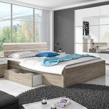 Bett Berlin Futonbett Doppelbett San Remo Eiche hell weiß mit Bettkasten 180x200