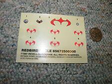 Revell  decals Redbird Cycle Batman robin  J122