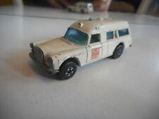 Matchbox Superfast Mercedes binz Ambulance in White + Decals