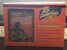 WHEATIES 75TH ANNIVERSARY 24K GOLD WALTER PAYTON Bears  MINI BOX NIB with COA