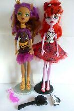 Clawdeen Wolf & Operetta, Stands & Accessories Monster High Doll Bundle.