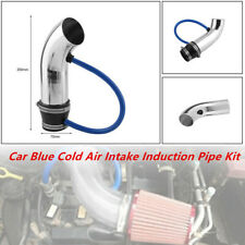 1X Universal 75mm Car Blue Cold Air Intake Induction Pipe Set Filter Tube System