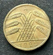 1925 a Germany 10 Reichspfennig Coin AU    Aluminum Bronze    #C096