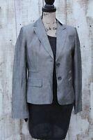 $140 ANN TAYLOR LOFT Women's NEW Size 4 Gray Linen Blazer