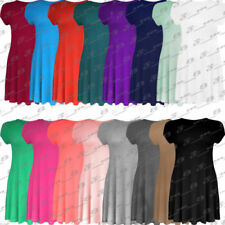 Unbranded Patternless for Women with Cap Sleeve Dresses