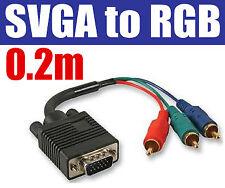 0,20 M VGA a Phono RGB SVGA LCD VIDEOPROIETTORE Cavo 03245