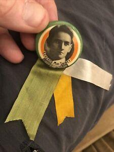 1920's Ireland Irish Independence Sinn Féin Terence MacSwiney PINBACK BUTTON PIN