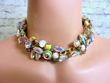 AUTHENTIC J CREW JEWELED GEM CHOKER CRYSTAL NECKLACE NWT #E2664