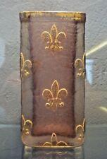 VASE EN PATE DE VERRE DAUM NANCY - ART NOUVEAU 1900 FLEURS DE LYS,gallé,lalique
