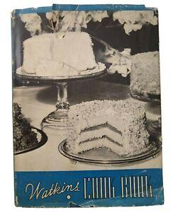 Watkins Cookbook 1943 4th Edition Vintage Dust Jacket