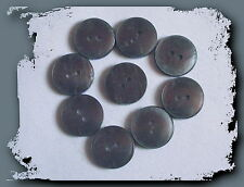 Lot 9 BOUTONS GRIS Translucide NEUFS * 18 mm * 2 trous * 1, 8 cm  Grey button