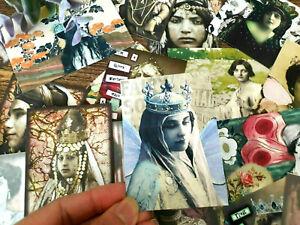50 Vintage Steampunk Bohemian Gypsy Ephemera Scrapbook Art Journals Card Kits