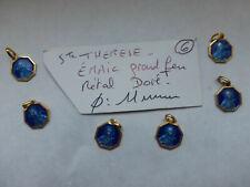 lot de 6 medailles ancienne Sainte Therese émail grand feu couleur bleu  FR 1960