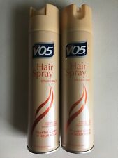 2 Pack Vo5 Hair Spray Brush Out Crystal Clear 14 Hour Hold 8.5 Oz Each