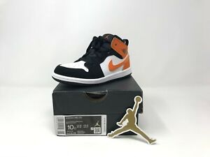 Toddler Boy's Air Jordan 1 Hi-Top Sneaker, Size 10C - Black/Starfish-White