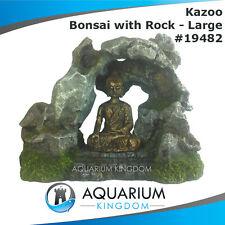 #19482 Kazoo Buddha with Rock - Large Aquarium Ornament Fish Tank Decoration