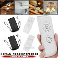 2x 30M Universal Ceiling Fan Lamp Light Remote Control Receiver Timing Wireless