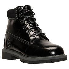 [3794A] TIMBERLAND 6 INCH PREM WATER PROOF BLACK SHINE GRADE SCHOOL BOOTS Sz 7