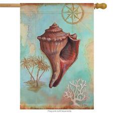 Nautical Shells Whelk Summer House Flag