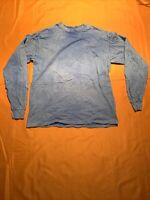 Hanes Beefy T-shirts long Sleeve Vintage 80's Single Stitch New From Box Blue US