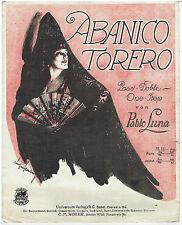 Pablo Luna - Abanico torero - Paso doble one step C.M.Roehr - Hacia 1920