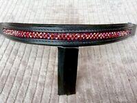 Crystal Bling Browband for English, Saddle Seat or Black Dressage Bridle (Red)
