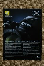Nikon D3 single sheet from 2000s. edge marks, complete.