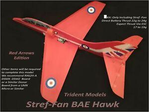 1x Indoor Radio Control Hawk EDF Red Arrow's Depron CNC w/ Stref Jet Fan 3.7volt