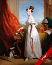 YOUNG QUEEN VICTORIA AS GIRL PORTRAIT PAINTING BRITISH HISTORY ART CANVAS PRINT
