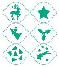 Schablone** Frohe Weihnacht  **A4**für Stoffe usw.- ** Nr.: 732 Möbel Torten