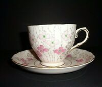 Vintage Royal Tuscan Tea cup & Saucer Set made in England Signed 6652H