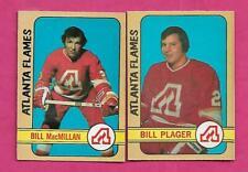 1972-73 OPC FLAMES BILL PLAGER RC + BILL MACMILLAN RC  CARD   (INV# J0474)
