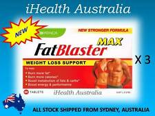 3X NATUROPATHICA FAT BLASTER MAX (NEW) 60 Tablets - Weight Loss Guarana Garcinia