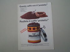 advertising Pubblicità 1965 CAFE' CAFFE' PAULISTA