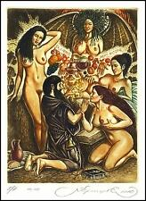Kirnitskiy Sergey 2010 Exlibris C4 Temptation of Saint Anthony Erotic Nude 184