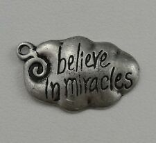 Believe in Miracles Charm, Sterling Silver, .925, Pendant, #C116