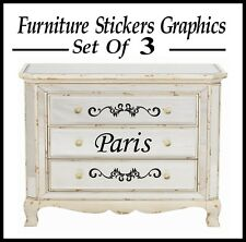 3 x style français paris maison meubles autocollants/graphique/autocollants muraux?