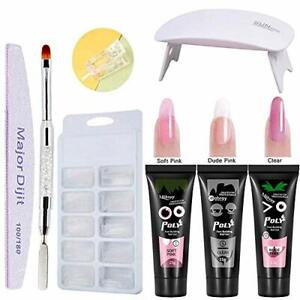 Extension Nail Gel Kit, Anself 3 Colors Quick-dry Nail Gel + 100pcs Nail Molds +