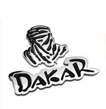 Chrome Dakar Car Sticker Rally Auto Tailgate Decal Emblem Adhesive Metal Badge
