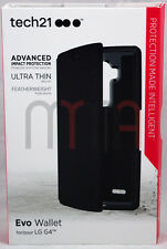 NEW Genuine Tech21 Impactology D3O LG G4 Evo Wallet Flip Cover Folio Case Black