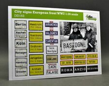 DioDump DD163 - City signs European front WW2 - 1:35 scale diorama accessories