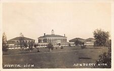 MI - 1910's REAL PHOTO Hospital View at Newberry, Michigan - Luce County