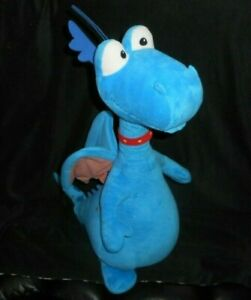 "24"" DISNEY DOC McSTUFFINS STUFFY BLUE DRAGON DINOSAUR STUFFED ANIMAL PLUSH TOY"